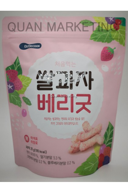 BeBecook  Rice Stick Berries 30g for 12+ months