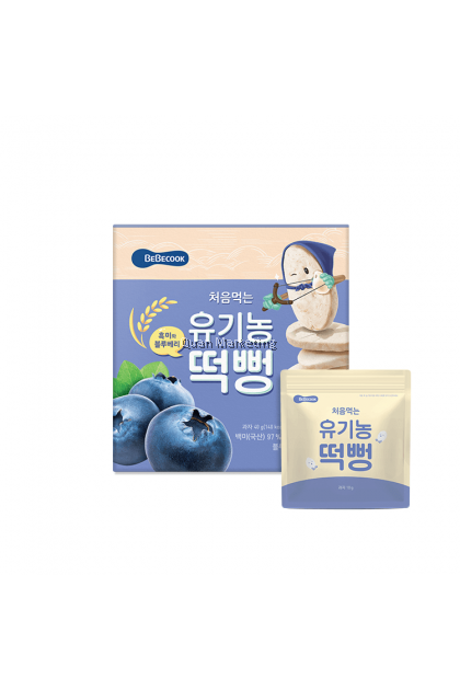 BeBecook - Organic Rice Snack Blueberry 40g for 5+ months