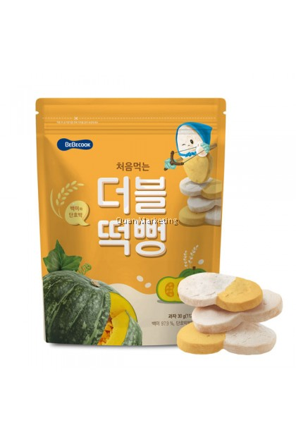 BeBecook - Duo-Flavor Rice Snack (Pumpkin) 5mth+