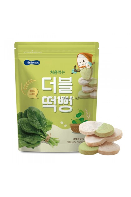 BeBecook - Duo-Flavor Rice Snack (Spinach) 5mth+