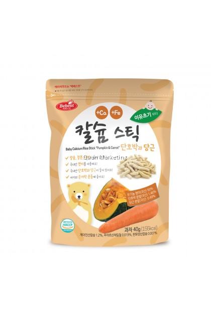 Bebest Calcium Rice Stick 40g - Pumpkin & Carrot for 8+ mths